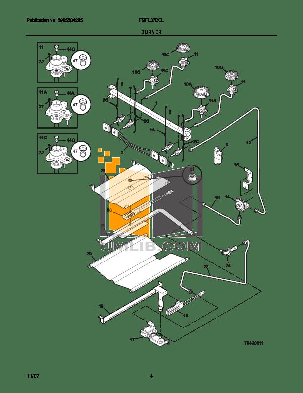 PDF manual for Frigidaire Range FEFL67DCK