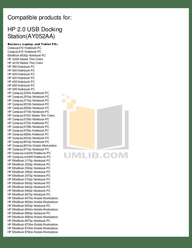 Download free pdf for HP EliteBook 8560w Laptop manual