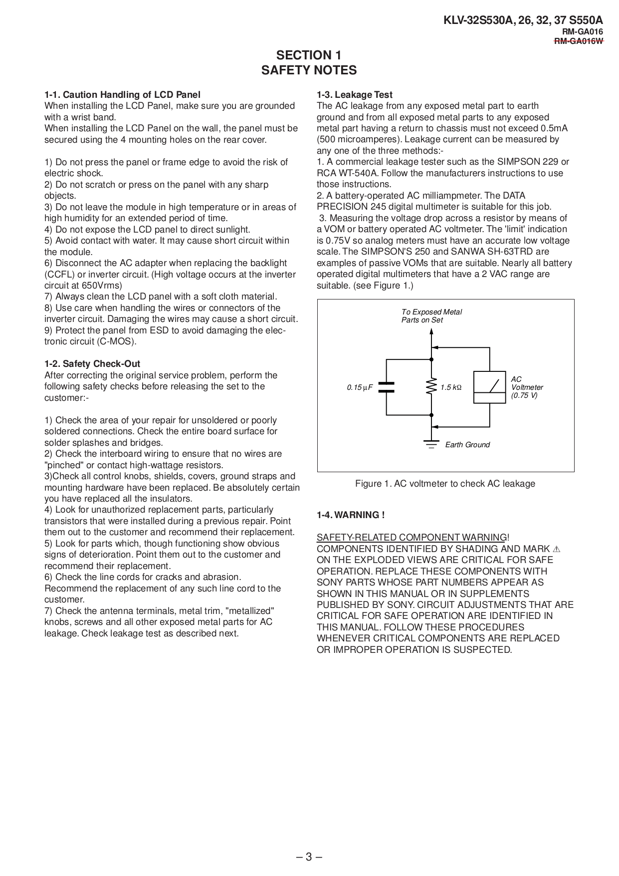 PDF manual for Sony TV BRAVIA KLV-32T550A