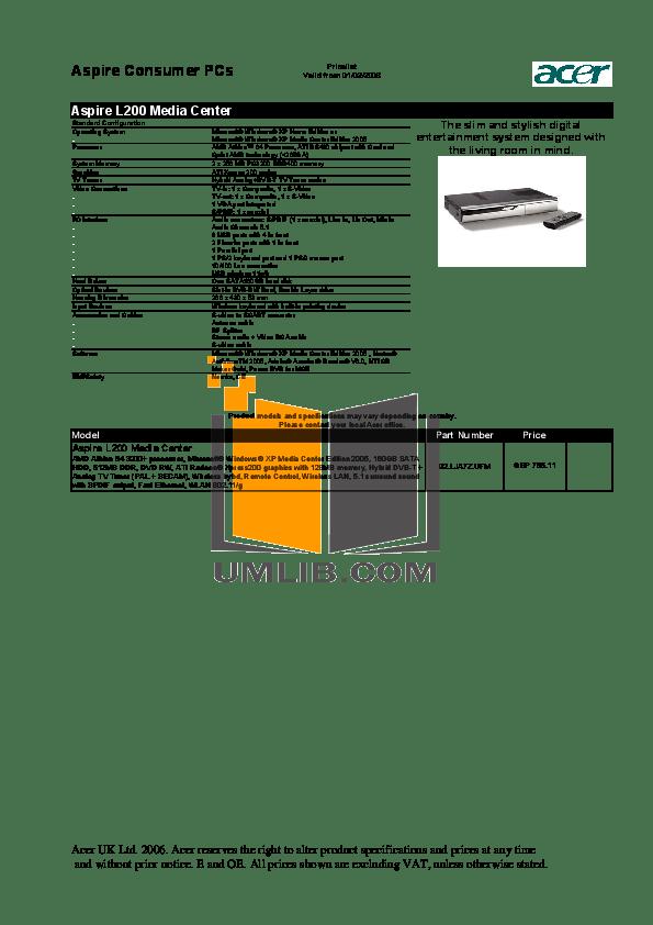 PDF manual for Acer Desktop Aspire E300