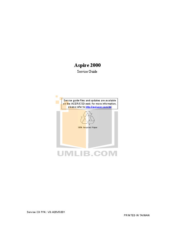 Download free pdf for Acer Aspire E300 Desktop manual