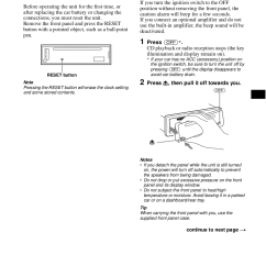 Sony Cdx Sw200 Wiring Diagram 2010 F150 Stereo Pdf Manual For Car Receiver Page Preview