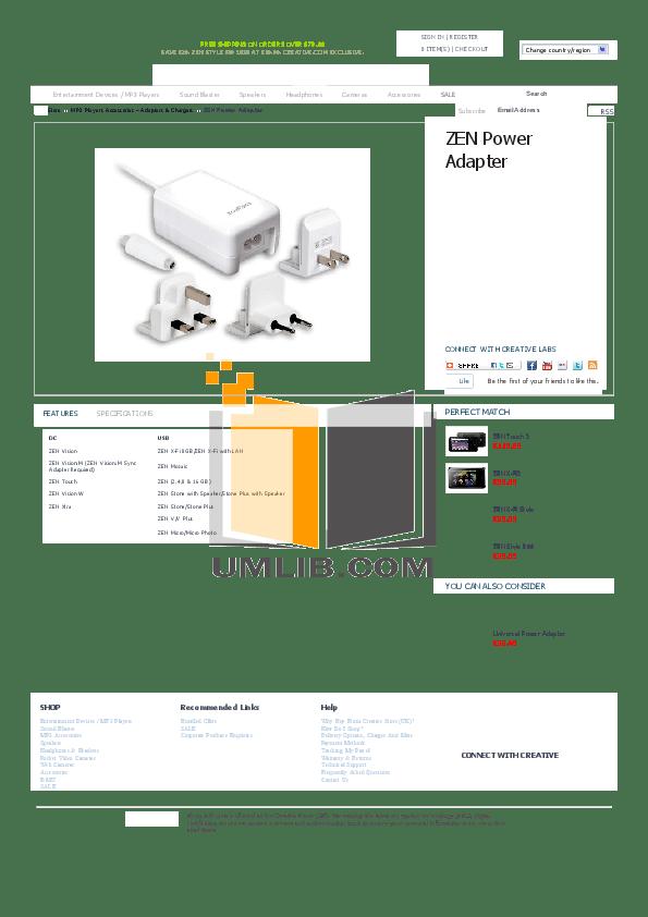 Download free pdf for Creative ZEN Zen Mozaic 16GB MP3