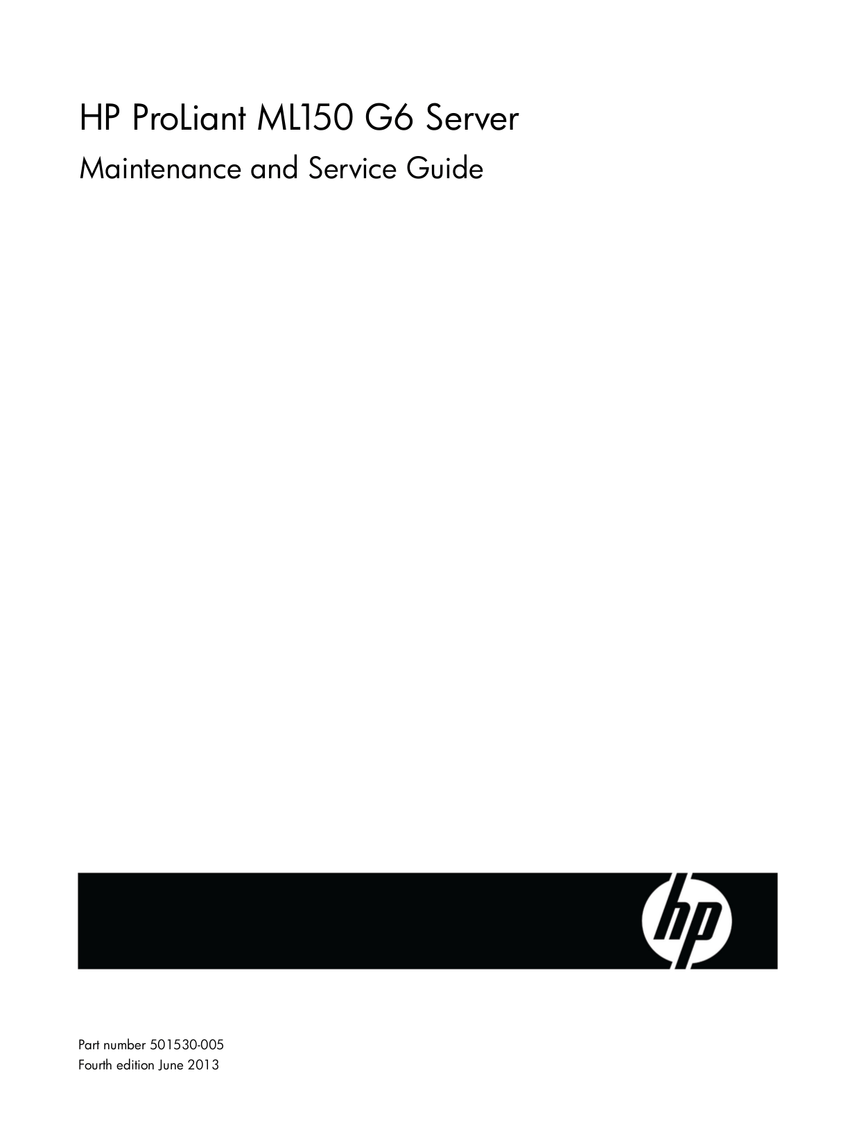 Download free pdf for HP ProLiant ML150 Servers Other manual