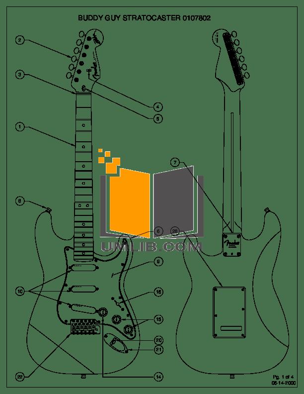 Download free pdf for Fender Buddy Guy Standard