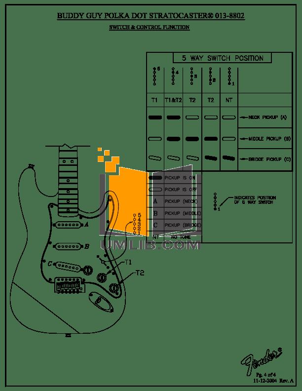PDF manual for Fender Guitar Buddy Guy Standard Stratocaster