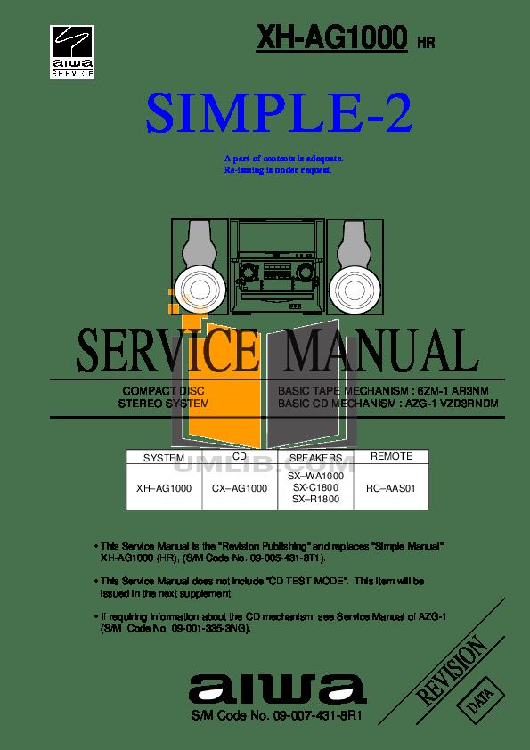Download free pdf for Aiwa HP-CN6 Headphone manual