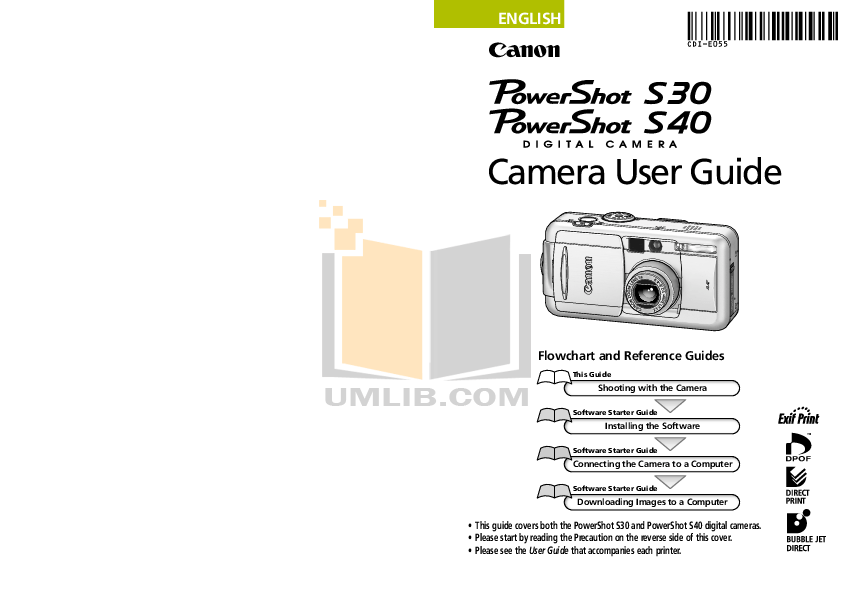 Download free pdf for Canon Powershot S30 Digital Camera