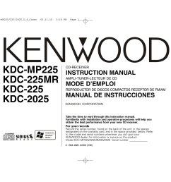 download free pdf for kenwood kdc 2025 car receiver manual kenwood amp wiring diagram kenwood model kdc 2025 wiring diagram [ 1755 x 1240 Pixel ]