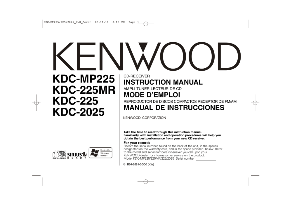 medium resolution of download free pdf for kenwood kdc 2025 car receiver manual kenwood amp wiring diagram kenwood model kdc 2025 wiring diagram