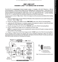 pdf for xantech receiver 291 10 manual [ 1275 x 1651 Pixel ]