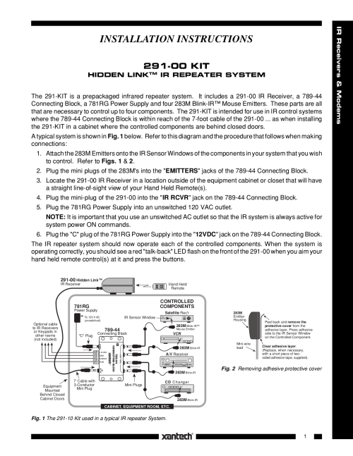 small resolution of pdf for xantech receiver 291 10 manual