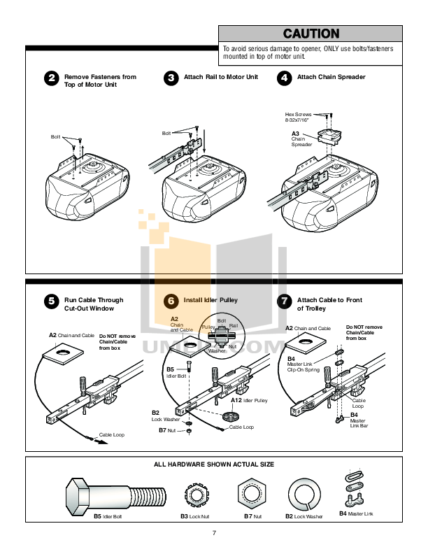 PDF manual for Chamberlain Other Whisper Drive HD600