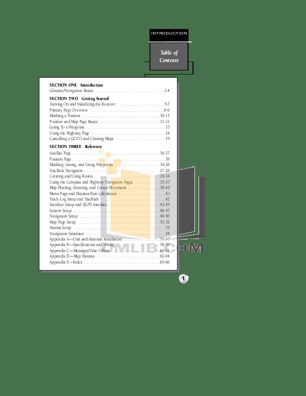 PDF manual for Garmin GPS GPS 120XL