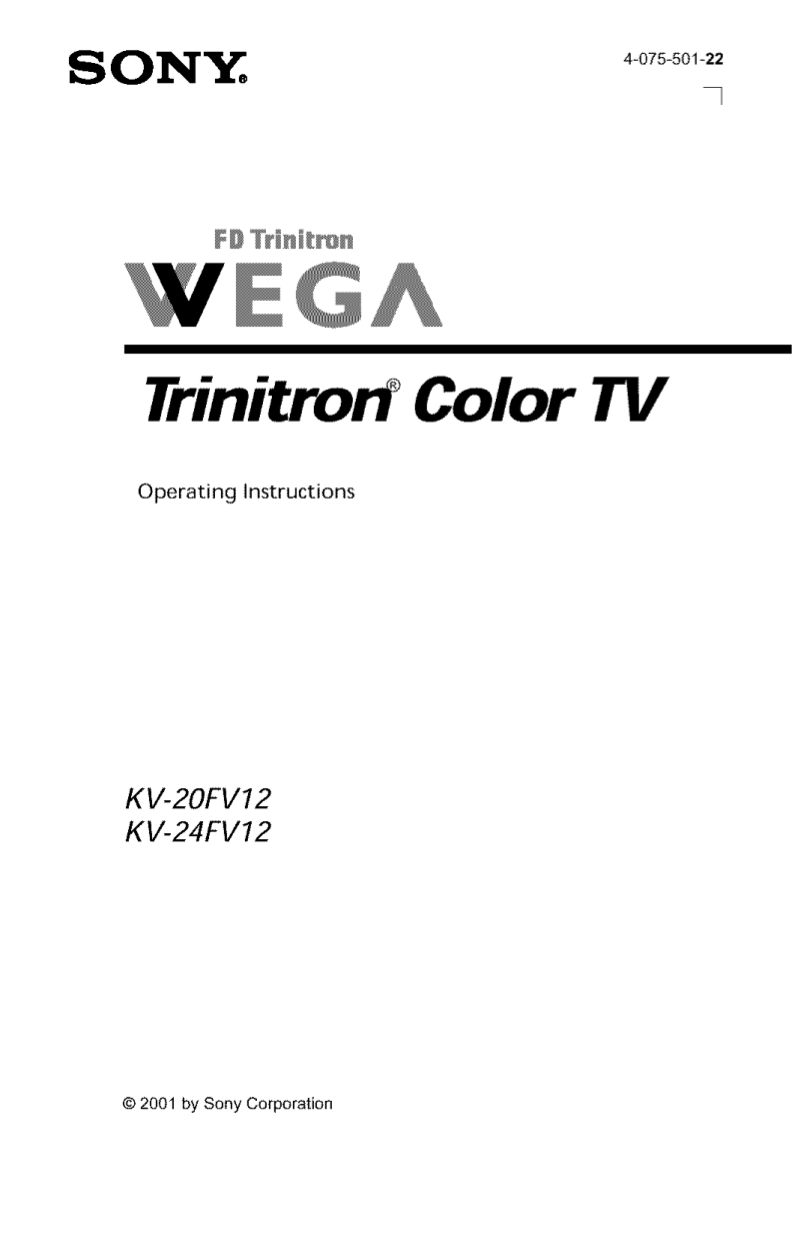 Download free pdf for Sony WEGA KV-24FV12 TV manual