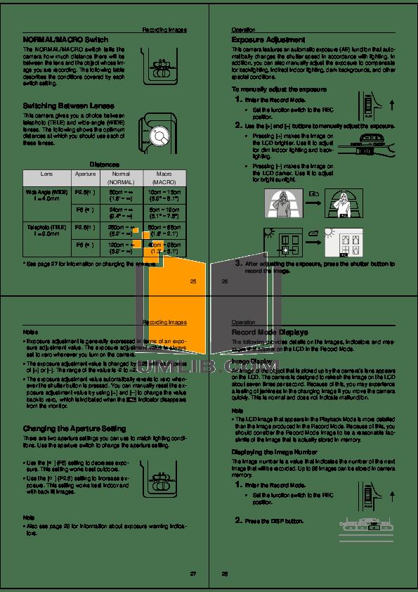 PDF manual for Casio Digital Camera QV-30
