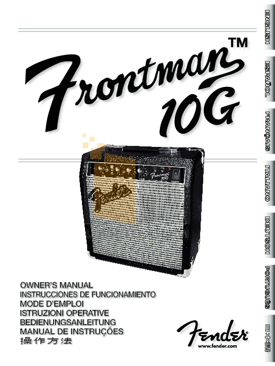 Download free pdf for Fender Frontman 10G Amp manual