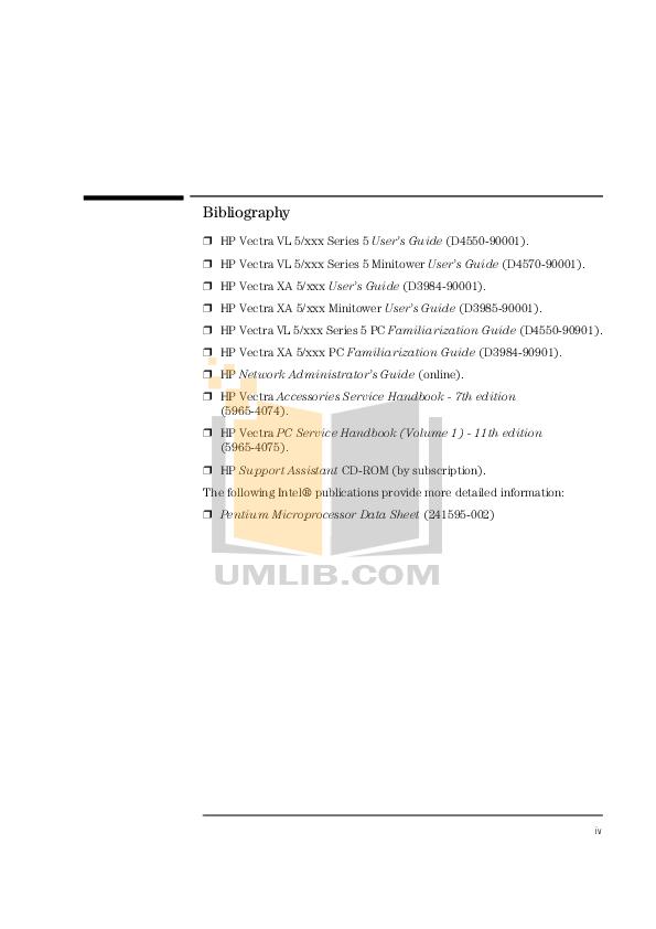 PDF manual for HP Desktop Vectra VLi8