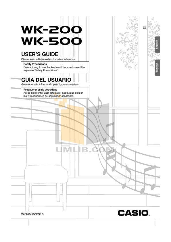 Download free pdf for Casio WK-500 Music Keyboard manual