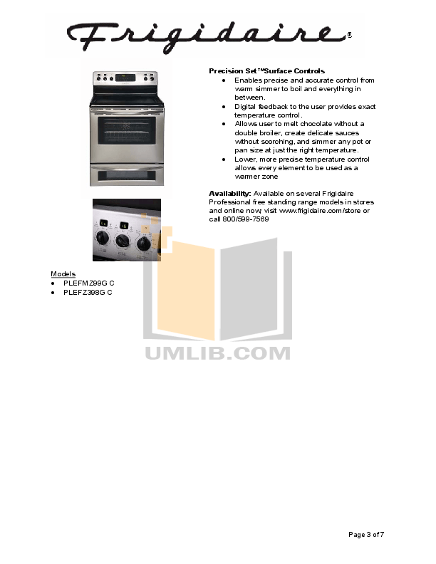 PDF manual for Frigidaire Refrigerator PHSC39EHSS