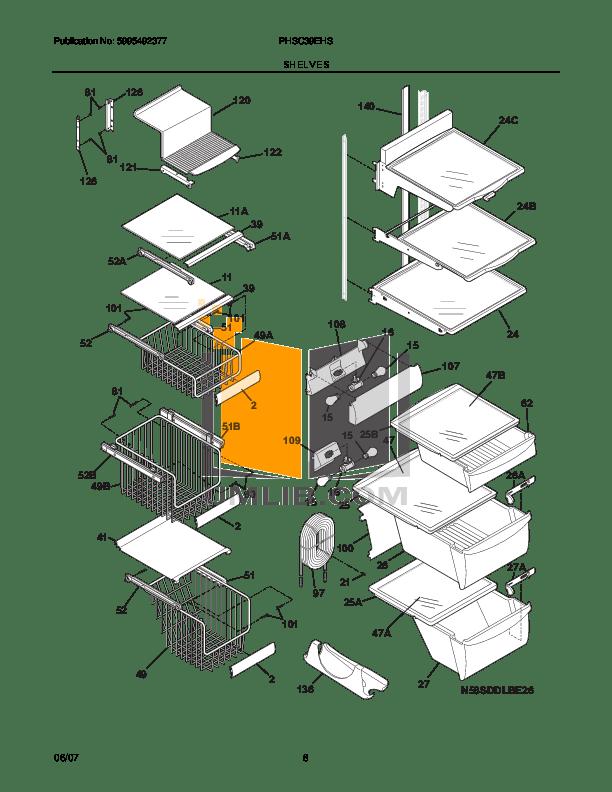 PDF manual for Frigidaire Refrigerator PHSC39EHSS