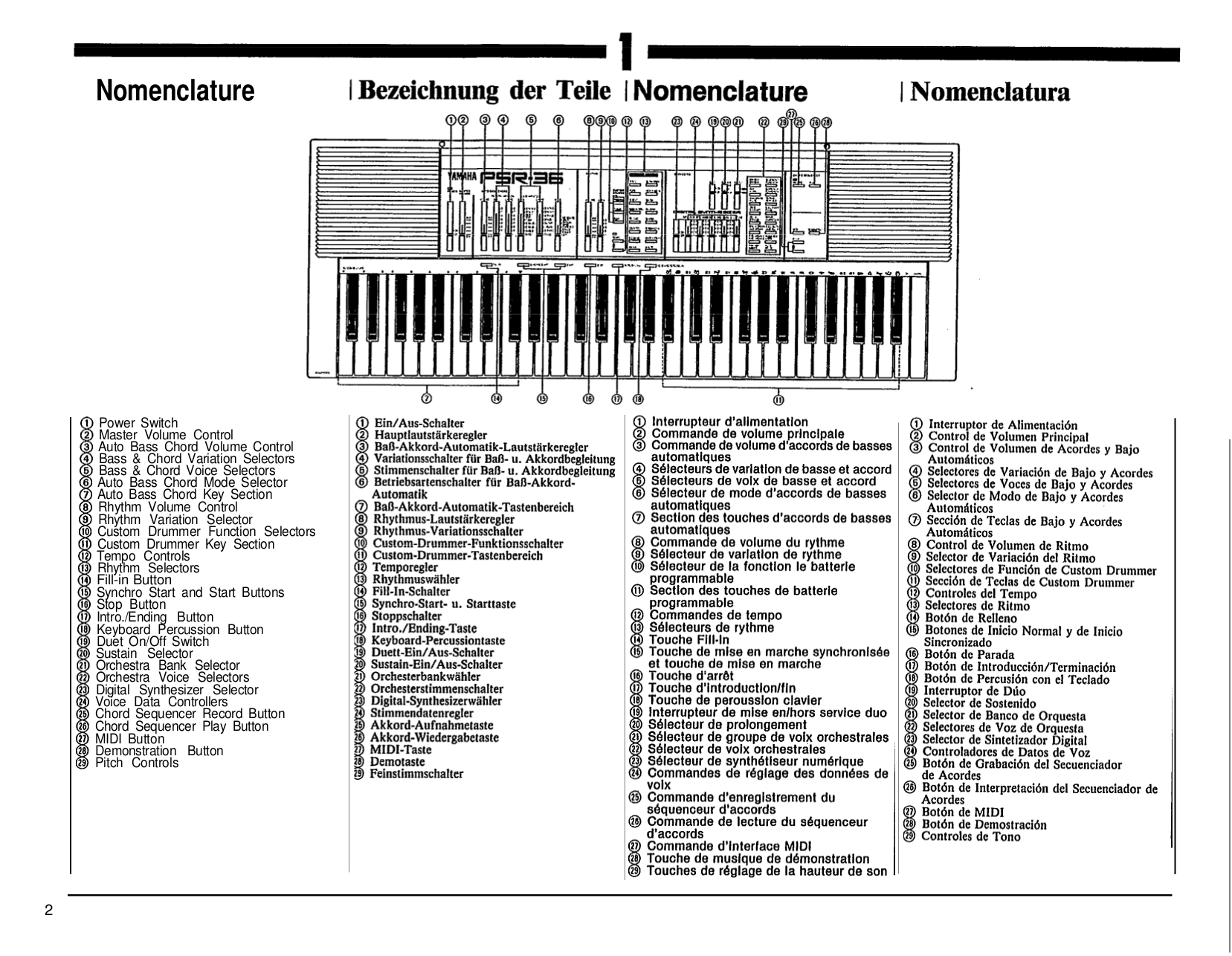 PDF manual for Yamaha Music Keyboard PSR-A3
