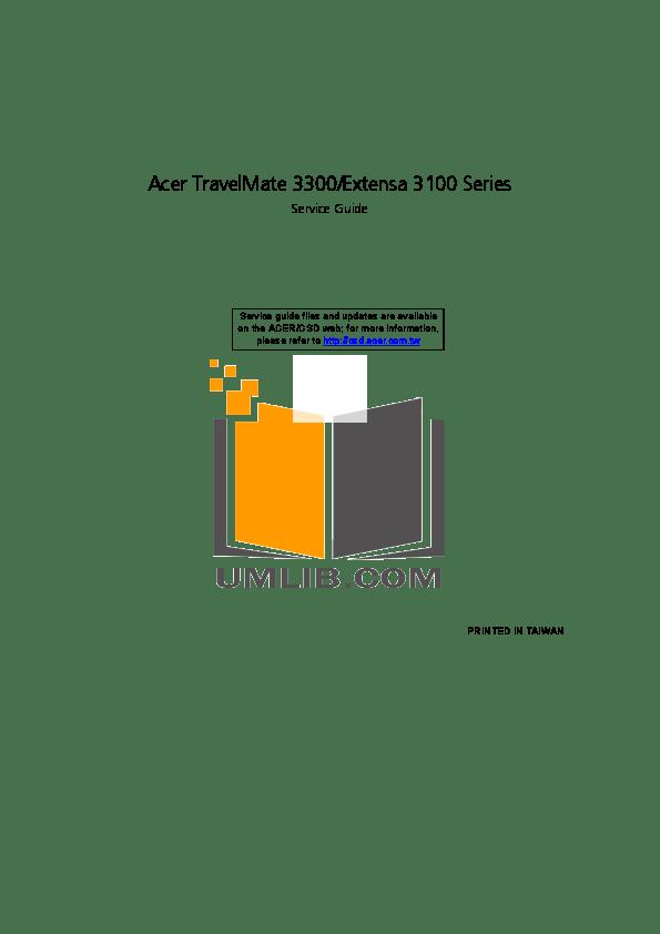 Download free pdf for Acer Extensa 5130 Laptop manual