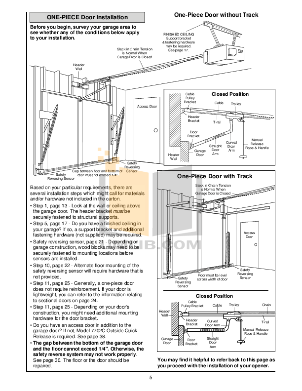 PDF manual for Chamberlain Other 5100 Garage Door Openers