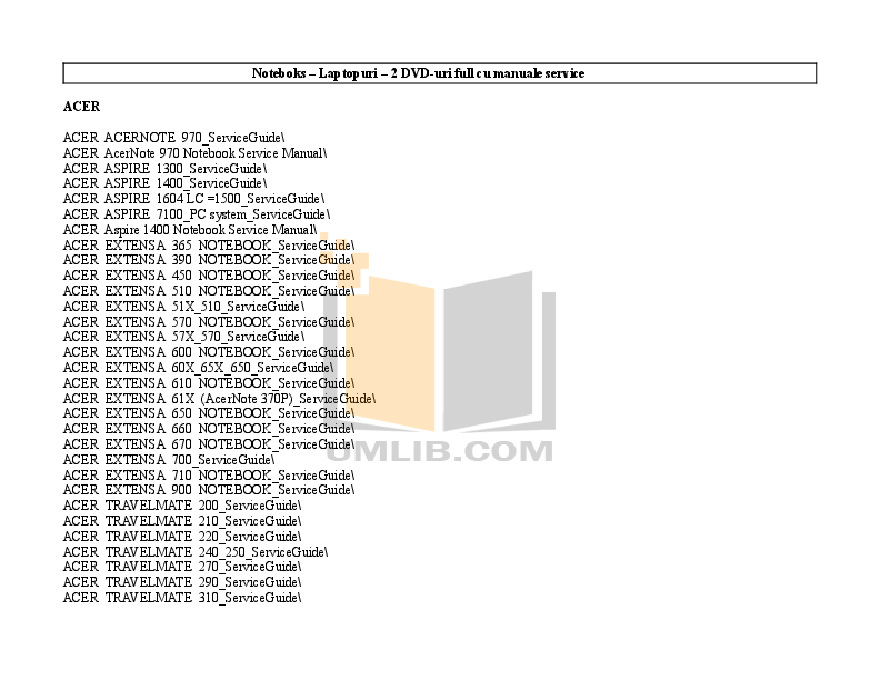 Download free pdf for Acer Extensa 390 Laptop manual