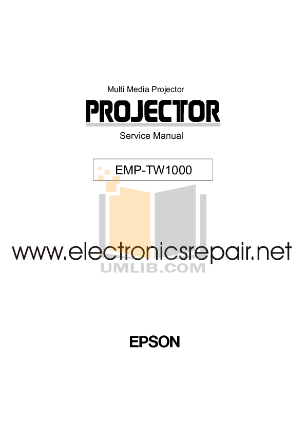 Download free pdf for Epson EMP-TW 1000 Projector manual