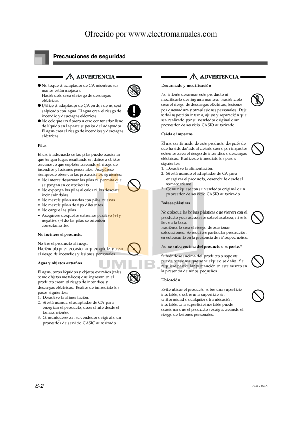 PDF manual for Casio Music Keyboard CTK-573