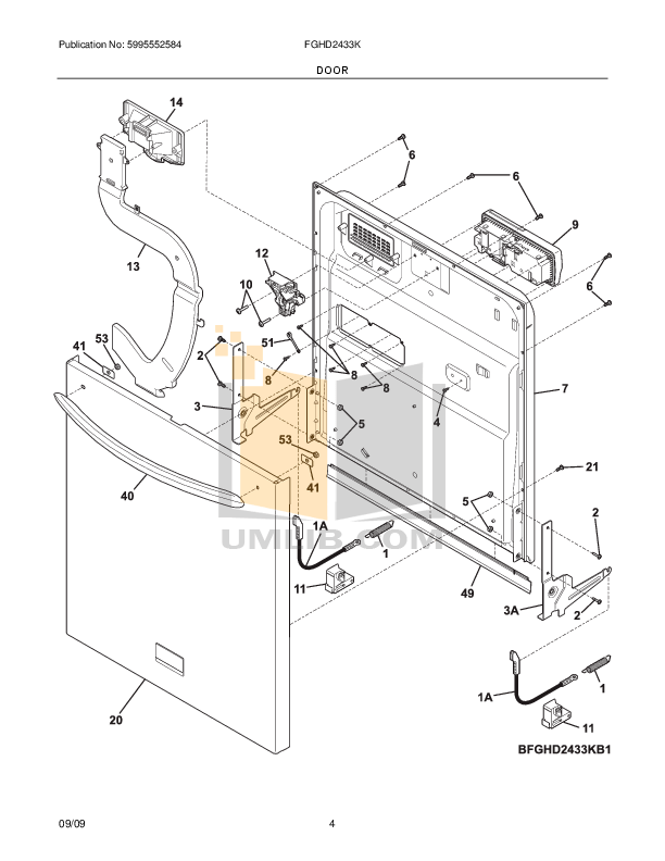 PDF manual for Frigidaire Dishwasher Gallery FGHD2433K