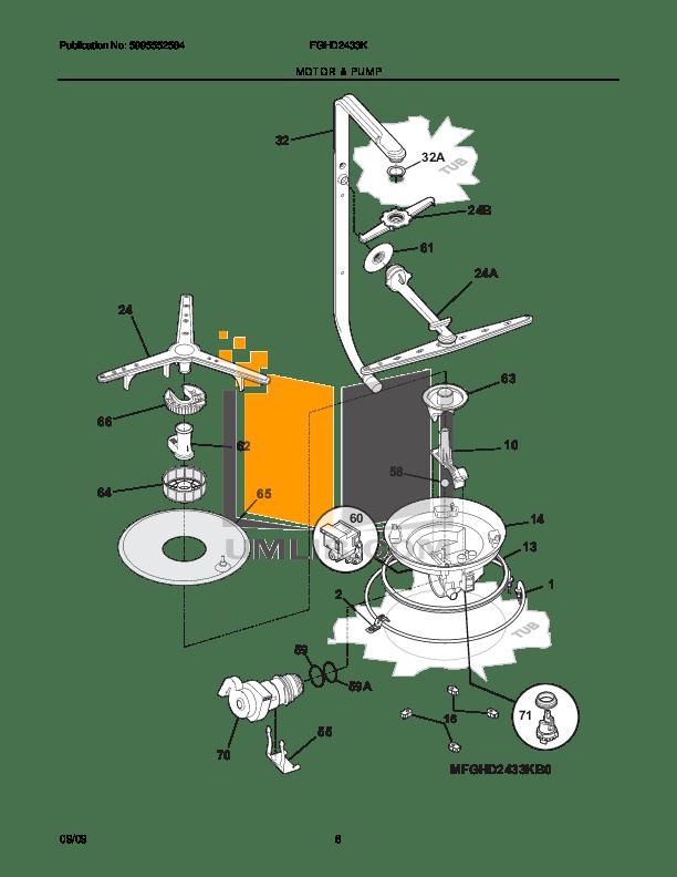 PDF manual for Frigidaire Dishwasher Gallery FGHD2433K