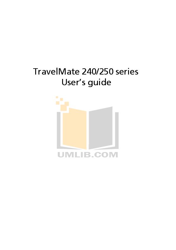 Download free pdf for Acer TravelMate 4260 Laptop manual