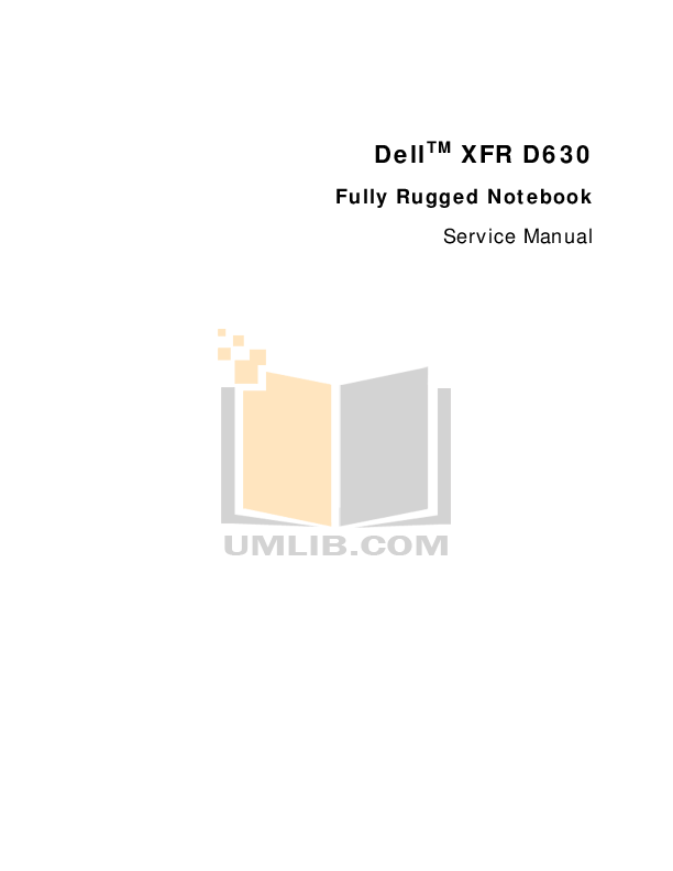 Download free pdf for Dell Latitude XFR D630 Laptop manual