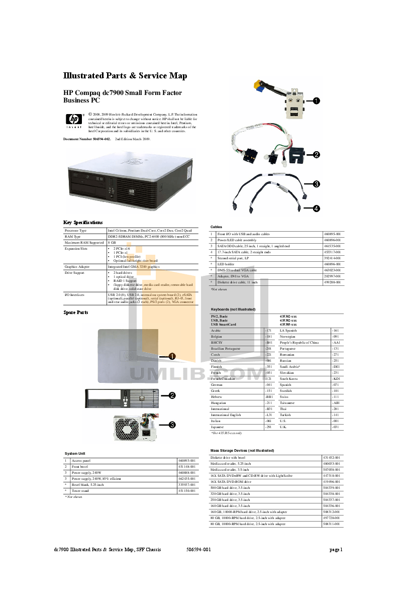 Download free pdf for HP Compaq dc7900 SFF Desktop manual