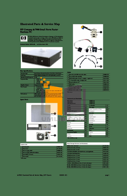 Download free pdf for HP Compaq dc7900 SFF Desktop manual
