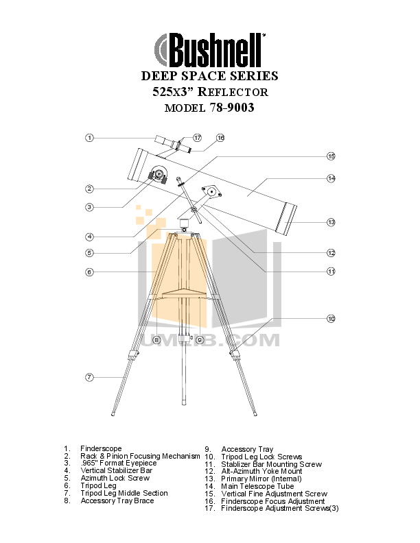Download free pdf for Bushnell Deep Space 78-9003