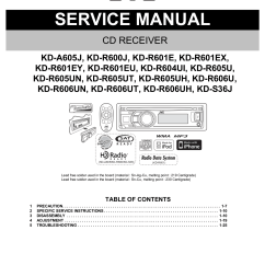 Jvc Kd R200 Wiring Diagram 2 Three Phase For House R650 User Manual
