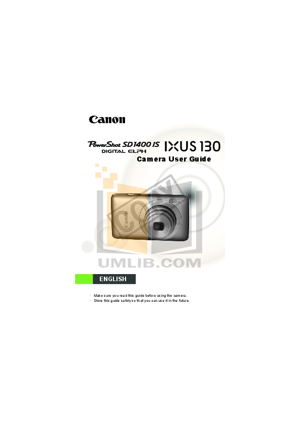 Download free pdf for Canon Powershot SD1400 IS Digital