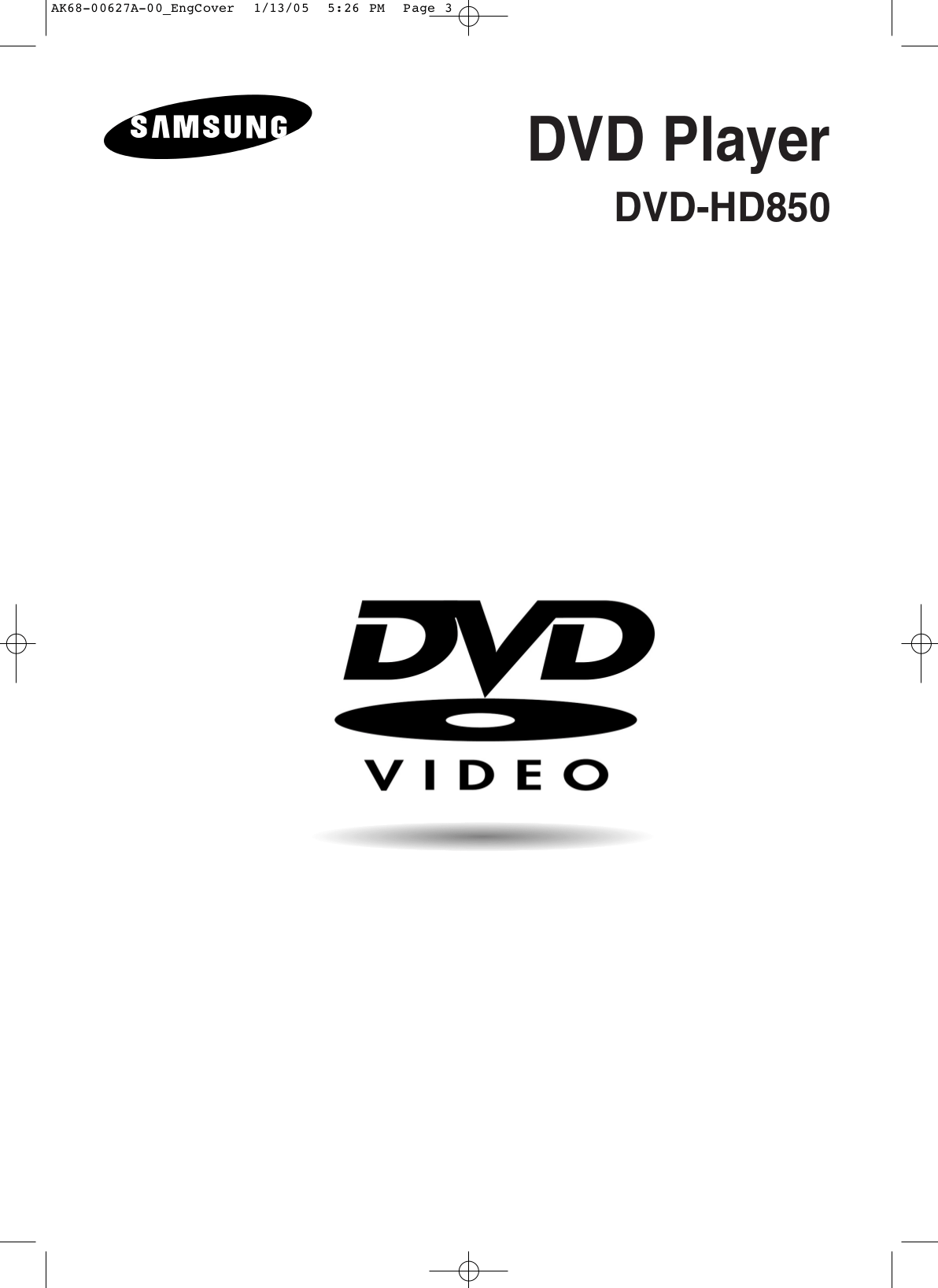 Download free pdf for Samsung DVD-HD850 DVD Players manual