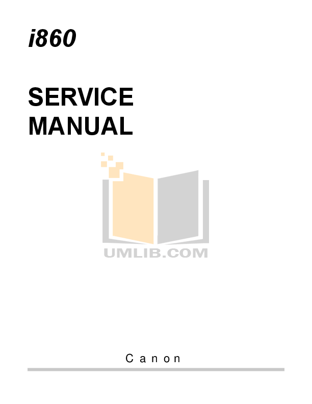 Download free pdf for Canon i865 Printer manual