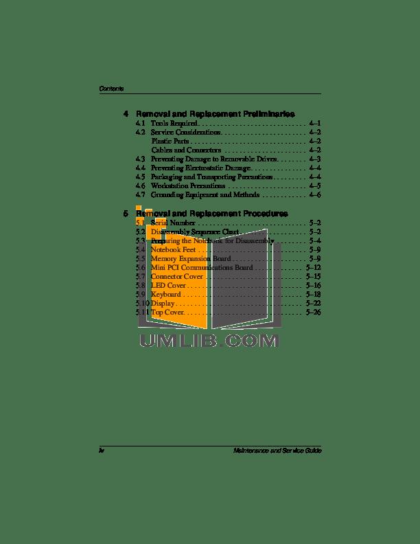 PDF manual for HP Laptop Compaq Presario,Presario 2869