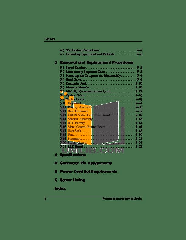PDF manual for HP Desktop Compaq Presario,Presario 3000EA