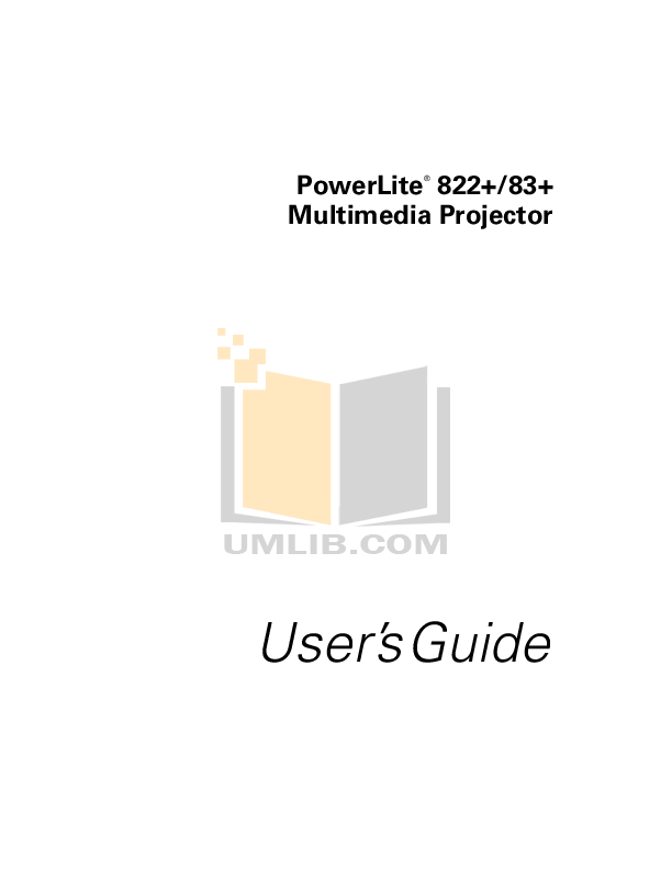 Download free pdf for Epson PowerLite 720c Projector manual