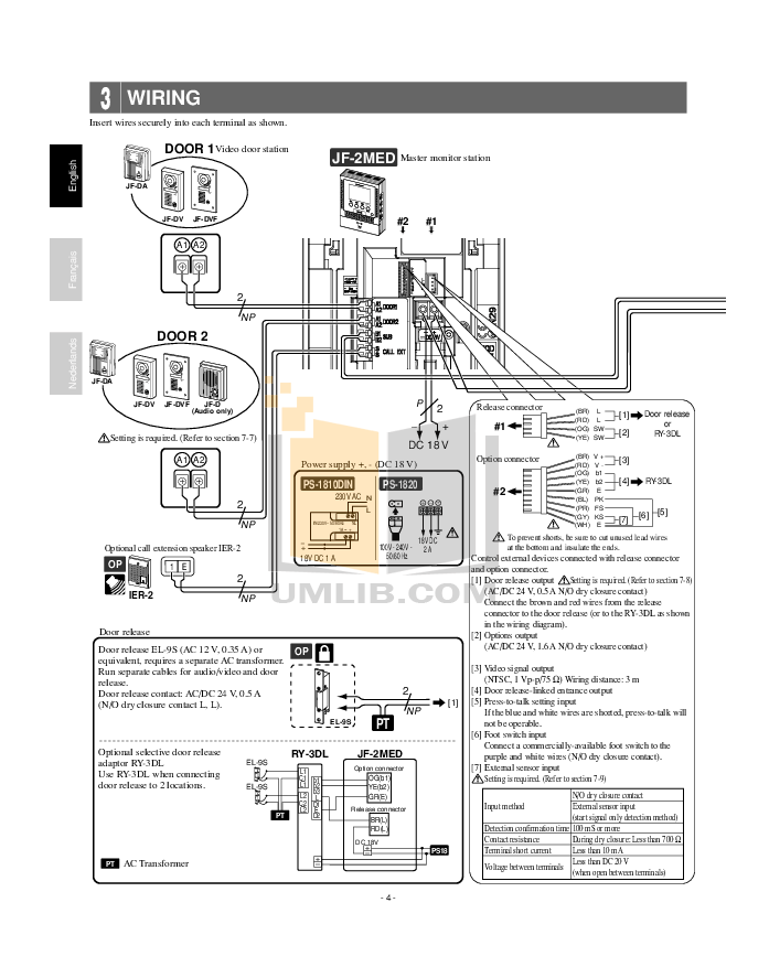 PDF manual for Aiphone Other LEF-5 Intercoms