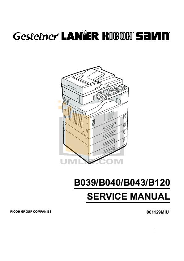 Download free pdf for Gestetner 1802d Copier manual