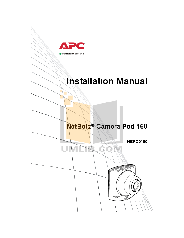 Download free pdf for APC NBWL0455 Security Camera manual