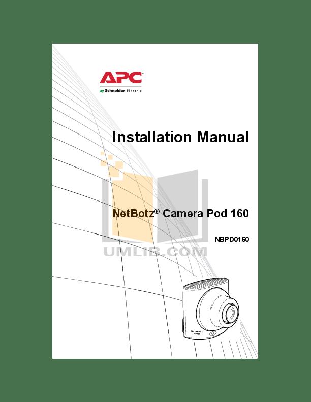 Download free pdf for APC NBWL0455 Security Camera manual