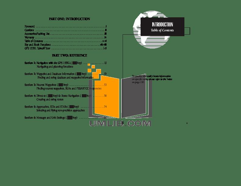 PDF manual for Garmin GPS GPS 126